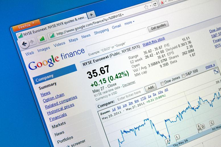 Adding and Subtracting From Your Portfolio with Google