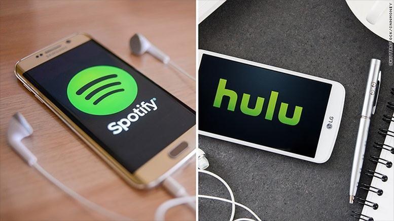 spotify and hulu offer joint bundle subscription for. Black Bedroom Furniture Sets. Home Design Ideas