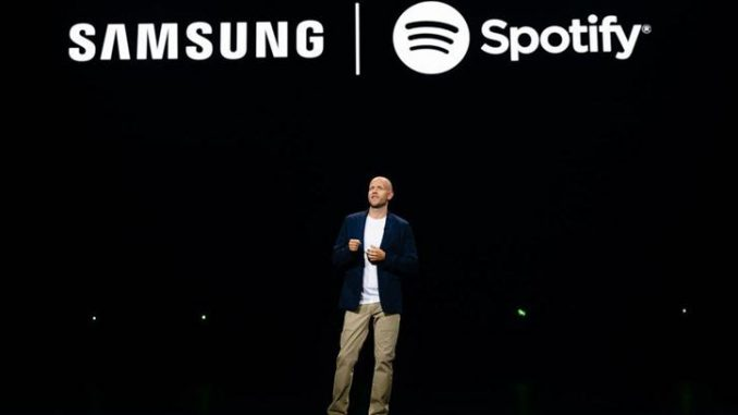 Spotify signs deal with Samsung